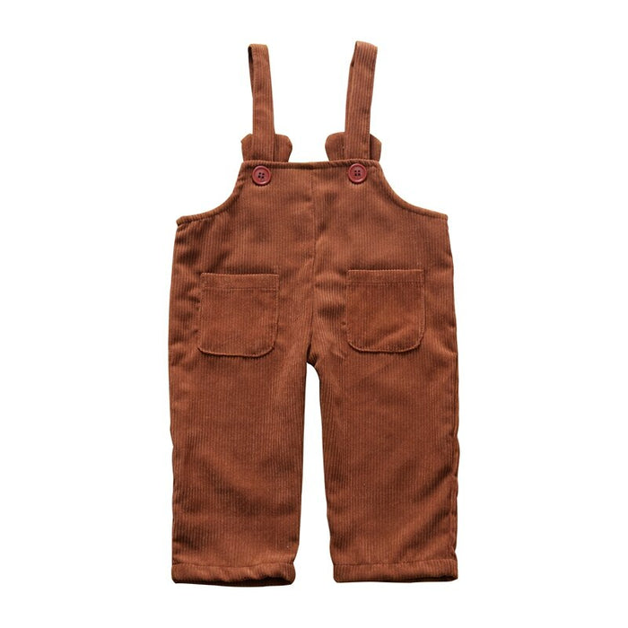 Autumn Baby Boy Girl Cute Overalls Kids Pants Toddler Soft Jumpsuit Suspenders Candy Color Infant Overalls for Girls Boys 0-3Y