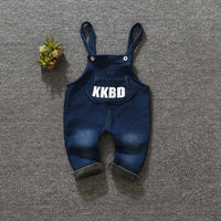 Cotton Toddler Bib Overalls Letter Baby Boy Girl Bib Pants Autumn Casual Loose Infant Baby Casual Trousers Boy Girl Clothes