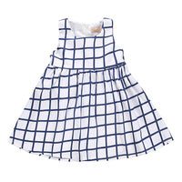 Summer Casual Fashion Baby Girl Cute Plaid Printing Sleeveless Princess Dress Kids' Clothing