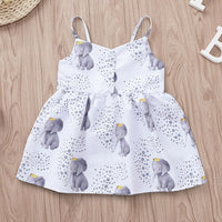 2019 Toddler Infant Baby Girl Strappy Dress Stars Cute Elephant Print Dresses Clothes Outfits