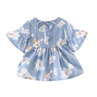 Summer Cotton Petals Baby Dress Ruffles  Flare Sleeve Cute Princess Baby Infant Dresses Girls Dress 0-24 Months