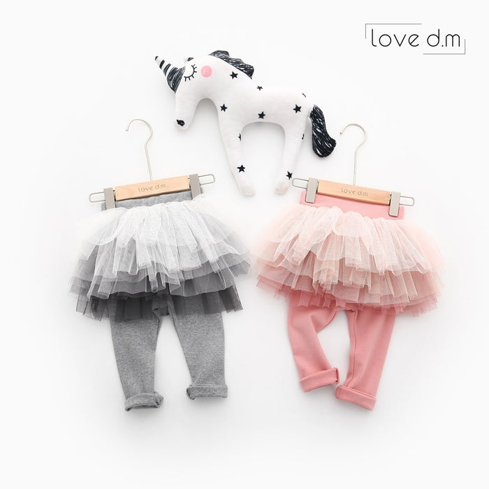 2019 Girls Pants Leggings Spring Autumn Cotton Skirt Pants Baby Girl Mesh 2 Colors Mesh Culottes Children Leggings Kids Clothes