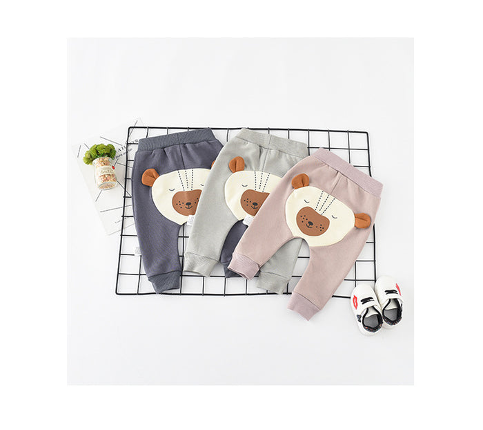 2018 autumn Brand New Toddler Infant Newborn Baby Kids Boys Girls 3D Bear Ear Harem Pants Toddler Bottom Trousers Leggings 0-2T