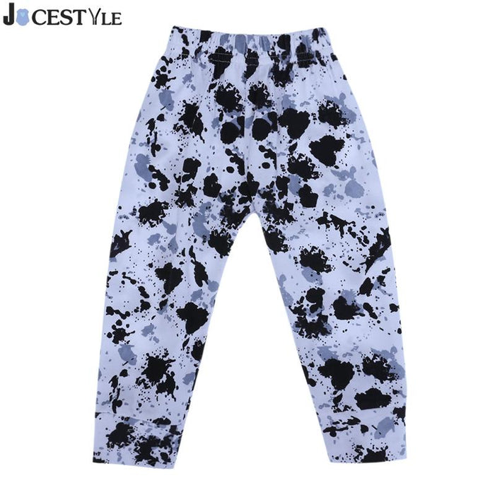 Baby Leggings Cartoon Baby Boys Trousers Harem Pants Kids Dye Ink / Leopard Printed Animal Leggings Casual Stylish PP Pants