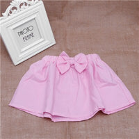 Baby Kid Girl Mini Bubble Tutu Skirt Bowknot Pleated Fluffy Party Dance vestidos infantil trolls W15