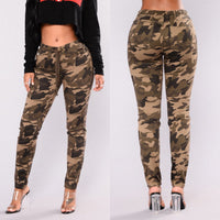 Fashion Women Camo Cargo Trousers Casual Skinny Pants Military Army Combat