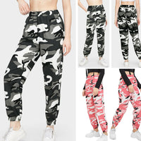 2019 New arrival Women Cargo Trousers Casual Hip Hop Pants Cool Military Army