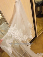 Highest Quality 3-meter (total length)Two Layers Elegant Luxury Long Wedding