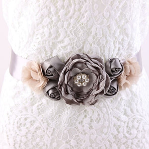 Maternity Sash Flower Sash Belt Bridesmaid Accessory Photo Prop Baby Shower Newborn Flower Belt Bridal Wedding Accessories
