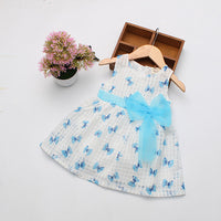 2016 Super Deal Summer Cotton Baby Dress Princess Dress Puff Sleeveless Cute Fashionable Baby Infant Dress 0-2 Years