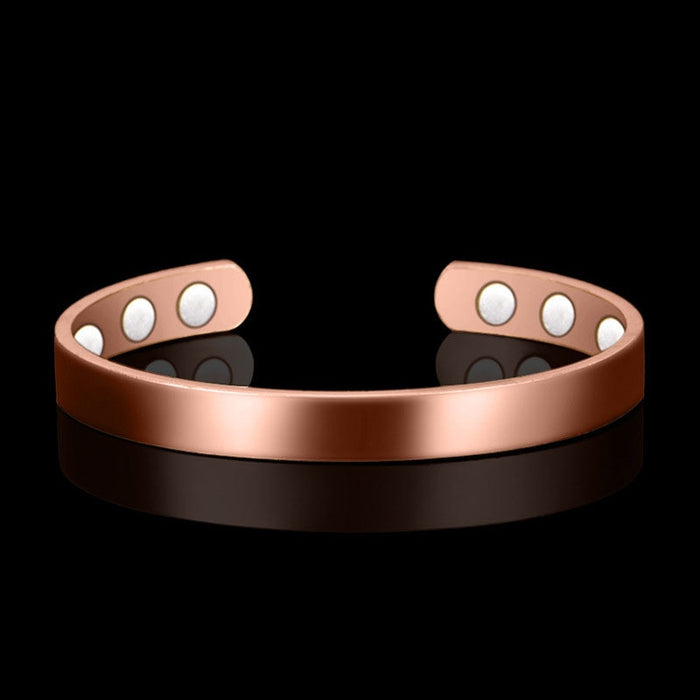 Ethnic Pure Copper 6 Magnetic Wrist Bangle Bracelet For Pain Relief Rheumatic
