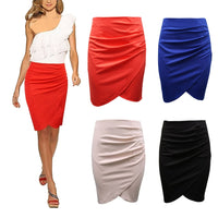 2017 Hot Style OL Style Lady High Waist Skirt Fit Knee Length Straight Office Skirt Stretch Pencil Skirt Women Working Clothing