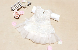 Princess Dresses Toddler Girls Casual Clothes Cotton Kids Bow Lace Ball Gown Kids Clothing