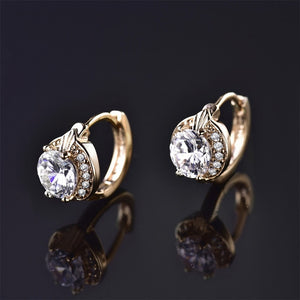 MOLIAM Smart Chic White Zircon Earring Lady Small Huggie Hoops Earrings