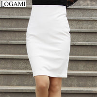 Wrap Skirt Pencil Skirt 2016 Women High Waist OL Bodycon Skirts Black/White Bandage Saias Femininas Formal SMLXXXXL Plus Size