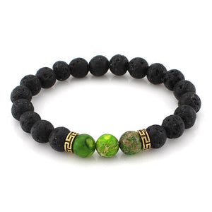 8mm Lava Stone Beads Bracelet Men Strand Bracelets For Women Handmade