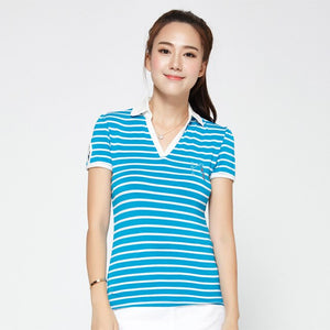 women's golf clothes golf T shirt short-sleeve polo sexy shirt for Spring and Aut