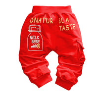 2016 new autumn  baby pants cotton quality Milk bottle Pattern baby boys/girls pants 1 piece 0-2 year kids pants Casual pants