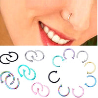Gold Silver Nose Hoop Nose Rings clip on nose ring Body Fake Piercing Jewelry For Women