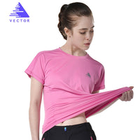 VECTOR Brand Quick Dry Shirt Men Women Short Sleeve Coolmax T-Shirt Outdoor Breathable Sport Running Climbing Hiking TXD10024