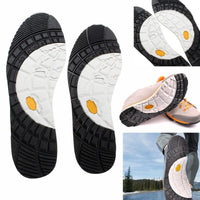 1Pair Rubber Stick On Soles, Hard-Wearing Anti-Slip Glue on Full Insoles Shoe