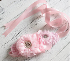Fashion flower Belt Woman Girl  Sash Belt Wedding Sashes belt