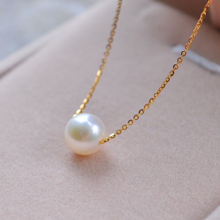 New Simple Fashion Top Quality Pearl Jewelry Choker Necklace Gold Chain Statement