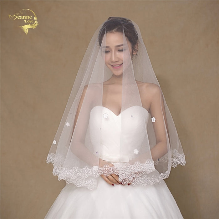 150  Simple Soft Tulle  Wedding Veils White Ivory OV32999