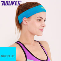 AOLIKES Towel Absorbent Sport Sweat Headband Sweatband For Men and women Yoga Hair Bands Head Sweat Bands Sports Safety