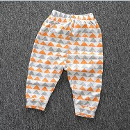Retail 2016 Baby Girls Pants Harem Pants Girls Boys Cartoon &Geometry Printed Pants For Toddler Children Clothes Trousers