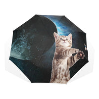 Fully Automatic Creative Female Students Parasol Personality Lovely Cute Cartoon Cat in the Sky Umbrella for Rain