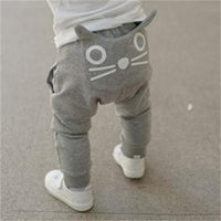 Children Casual Pants Autumn Baby Boys Clothing Cat Boy Harem Pants Cotton Owl Trousers Girls Costume Kids Trousers