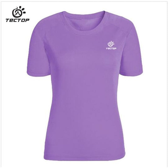 Quick Dry Breathable Anti-UV T Shirt 2017 New Outdoor Sport Tectop Brand Clothing Women Running Hiking T-Shirt Fishing Clothes