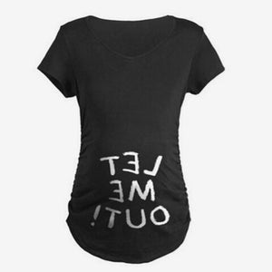 Fashion Baby fart 3D Print Pregnant Maternity t shirts Women Casual Pregnancy Clothes For Pregnant Women Gravida Cotton Vestidos