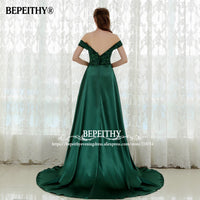 Sexy Sleeveless Long Prom Dresses Open Back Slit Robe De Soiree Lace Evening Party