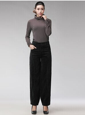 Ladies wide leg pants2018 New Spring and Summer Women Vintage Loose Trousers