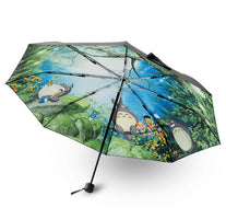 2017 Cartoon Totoro Umbrella Anime Studio Ghibli Umbrellas Rain Women Parasol