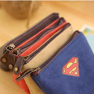 YIYOHI Unisex 3 Colors Canvas Coin Purse Wallet Fashion Superman K
