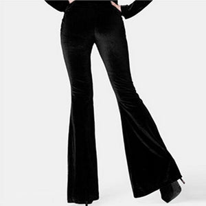 Large size women's spring and autumn new velvet corduroy casual pants wide leg