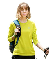 Tectop Outdoor Sport Spring Autumn Women Quick Dry Long-sleeve O-neck T-shirts Girls Elastic Breathable Hiking Tees Size: S-XXXL