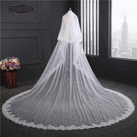 New Super Wide Bridal Veils New 2017 Two Layers 3.5 m White/Ivory