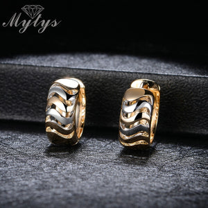 Mytys TWO-TONE HUGGIE Small Hoop Earrings For Women Fashion