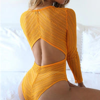 Articat Lace Bodycon Bodysuit Women Tops Sexy Deep V-Neck Backless Mesh Rompers Womens Jumpsuit Body Feminino Overalls Playsuit