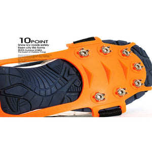 Jron 10-Teeth Traction Cleats for Walking on Snow and Ice Anti-slip Shoes Spikes