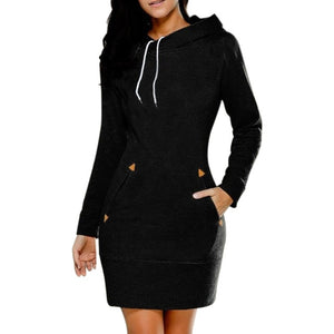 2017 Spring Autumn Women Thin Sweatshirt Dresses Zipper Pullover Jumper Dress