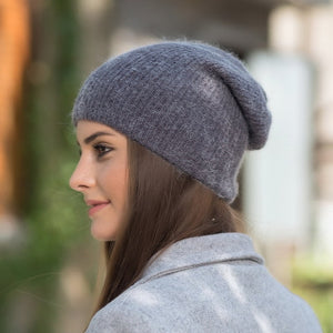 [Rancyword] High Quality Winter Hats For Women Cashmere Beanies Ladise Knitted Wool Skullies