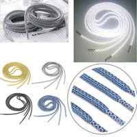 1Pair 120CM Reflective Runner Shoe Laces Visible Safety Shoelaces custom