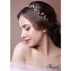 1pcs 50-100cm Rhinestone Simulated Pearl Luxury Headbands Long Hair