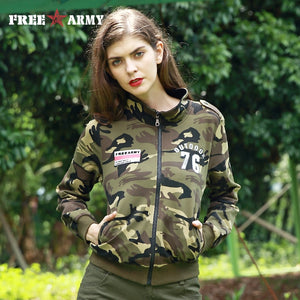 FREEARMY Autumn Ladies Zip-up Hoodies Women Casual Short Jackets Coat Outerwear