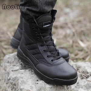 Hot Sell Retro Combat Boots Winter England-style Fashionable Men's Short Black